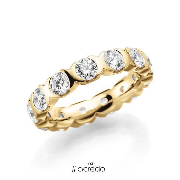 Memoire/Diamantring in Gelbgold 585 vollausgefasst mit zus. 2,6 ct. Brillant tw, vs von acredo
