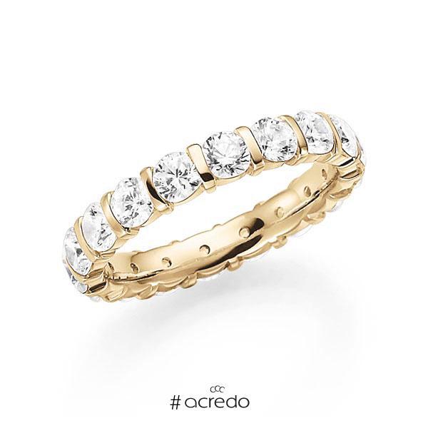 Memoire/Diamantring in Gelbgold 585 vollausgefasst mit zus. 2,7 ct. Brillant tw, vs von acredo
