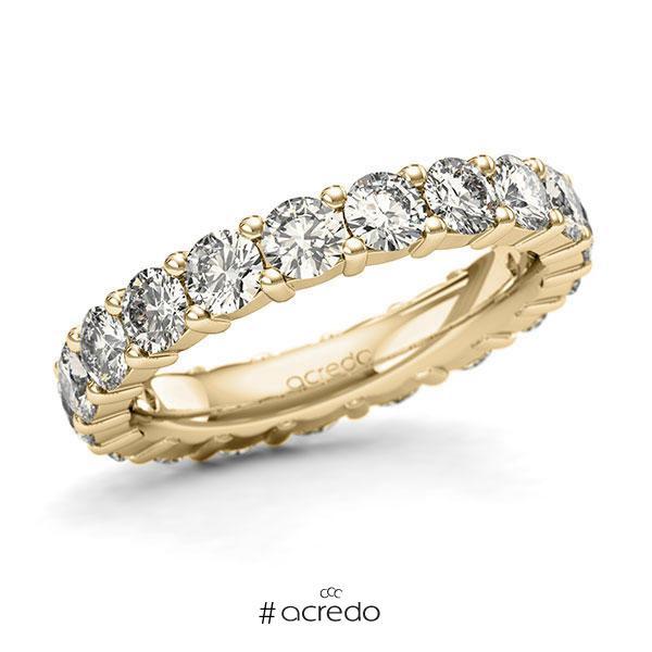 Memoire/Diamantring in Gelbgold 585 vollausgefasst mit zus. 2,85 ct. Brillant tw, si von acredo