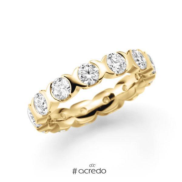 Memoire/Diamantring in Gelbgold 585 vollausgefasst mit zus. 3,25 ct. Brillant tw, vs von acredo