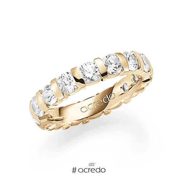 Memoire/Diamantring in Gelbgold 585 vollausgefasst mit zus. 3,2 ct. Brillant tw, vs von acredo