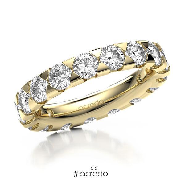 Memoire/Diamantring in Gelbgold 585 vollausgefasst mit zus. 3,4 ct. Brillant tw, si von acredo
