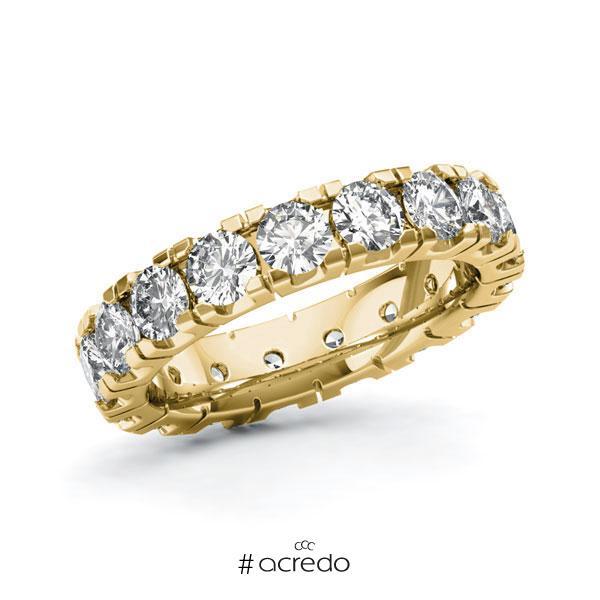 Memoire/Diamantring in Gelbgold 585 vollausgefasst mit zus. 3,4 ct. Brillant tw, vs von acredo