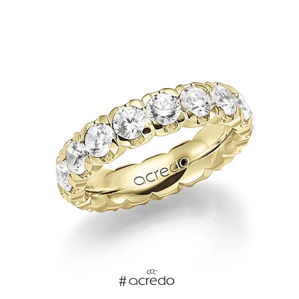 Memoire/Diamantring in Gelbgold 585 vollausgefasst mit zus. 3,6 ct. Brillant tw, vs von acredo