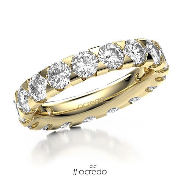 Memoire/Diamantring in Gelbgold 585 vollausgefasst mit zus. 4,25 ct. Brillant tw, si von acredo
