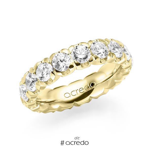 Memoire/Diamantring in Gelbgold 585 vollausgefasst mit zus. 4,25 ct. Brillant tw, vs von acredo