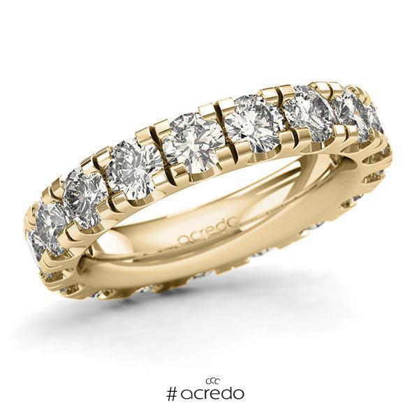 Memoire/Diamantring in Gelbgold 585 vollausgefasst mit zus. 4,5 ct. Brillant tw, si von acredo