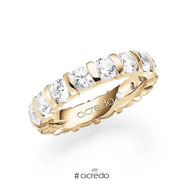 Memoire/Diamantring in Gelbgold 585 vollausgefasst mit zus. 4 ct. Brillant tw, vs von acredo
