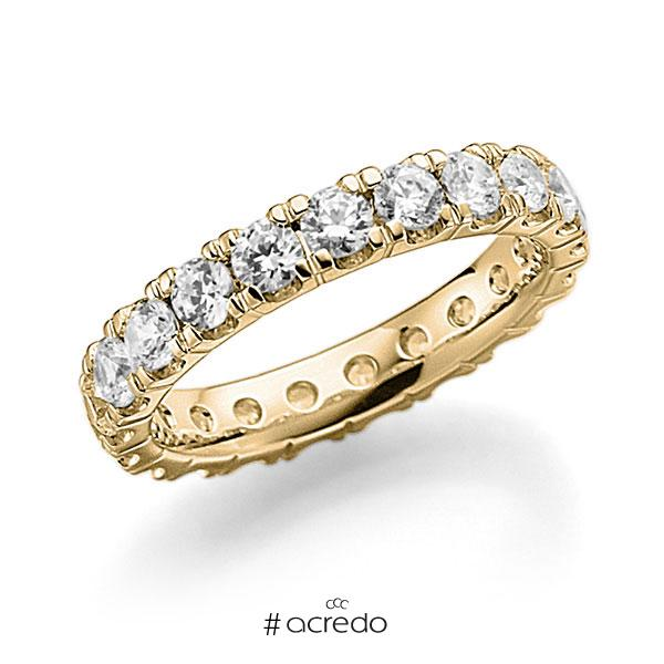 Memoire/Diamantring in Gelbgold 750 vollausgefasst mit zus. 2,31 ct. Brillant tw, vs von acredo