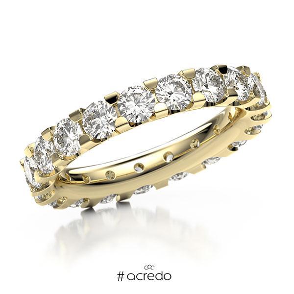 Memoire/Diamantring in Gelbgold 750 vollausgefasst mit zus. 3,04 ct. Brillant tw, vs von acredo