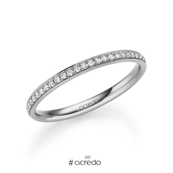 Memoire/Diamantring in Platin 600 halbausgefasst mit zus. 0,13 ct. Brillant tw, si von acredo