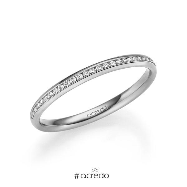 Memoire/Diamantring in Platin 600 halbausgefasst mit zus. 0,14 ct. Brillant tw, si von acredo