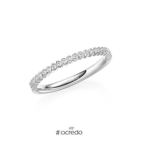 Memoire/Diamantring in Platin 600 halbausgefasst mit zus. 0,24 ct. Brillant tw, si von acredo