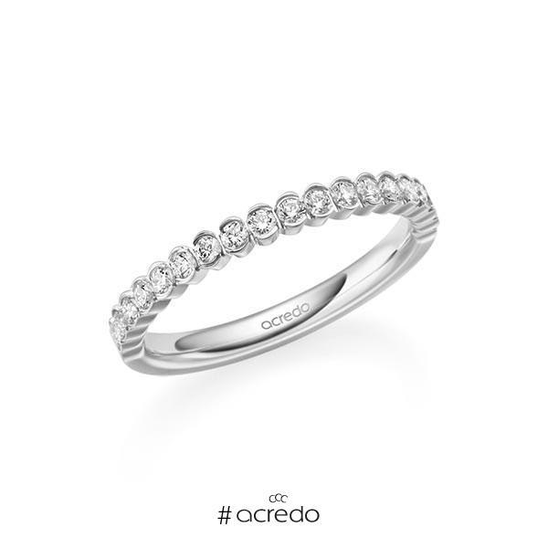 Memoire/Diamantring in Platin 600 halbausgefasst mit zus. 0,315 ct. Brillant tw, si von acredo