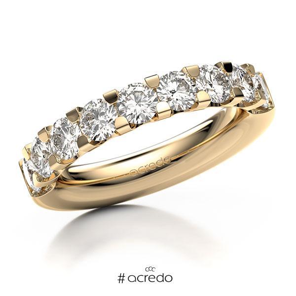 Memoire/Diamantring in Roségold 585 halbausgefasst mit 8x 0,3 ct. Brillant tw, vs von acredo