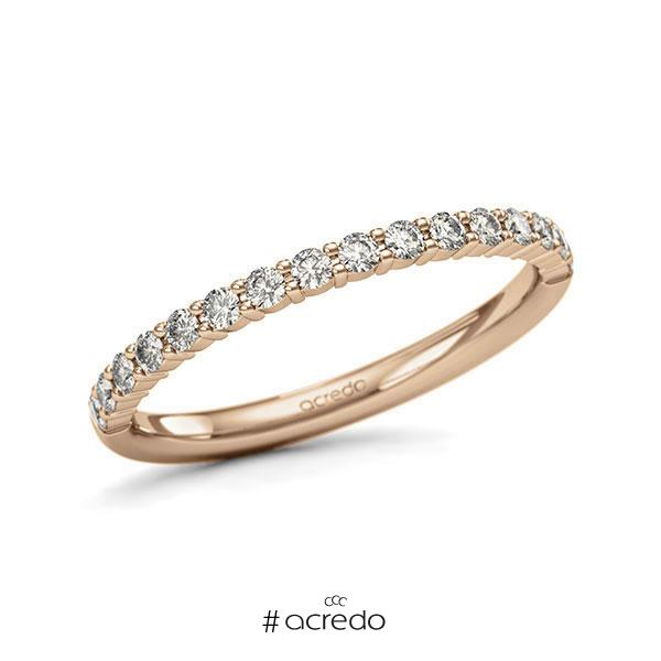Memoire/Diamantring in Roségold 585 halbausgefasst mit zus. 0,32 ct. Brillant tw, si von acredo