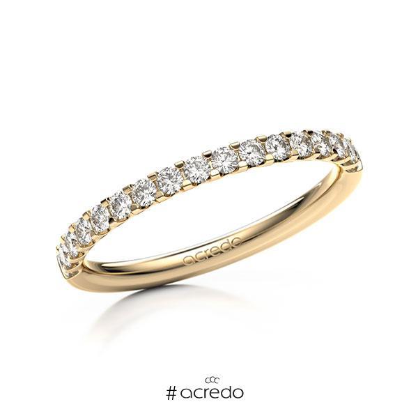 Memoire/Diamantring in Roségold 585 halbausgefasst mit zus. 0,34 ct. Brillant tw, vs von acredo