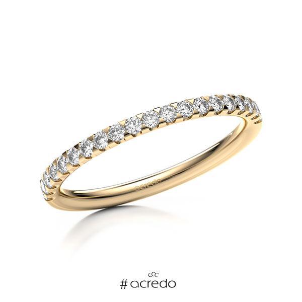 Memoire/Diamantring in Roségold 585 halbausgefasst mit zus. 0,3 ct. Brillant tw, si von acredo