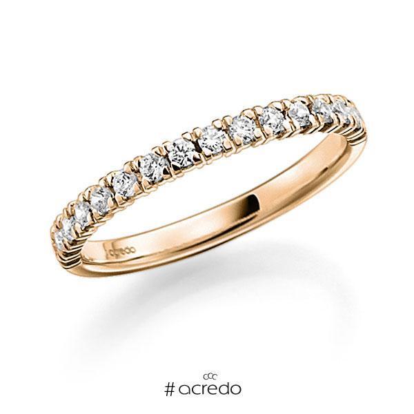 Memoire/Diamantring in Roségold 585 halbausgefasst mit zus. 0,45 ct. Brillant tw, vs von acredo