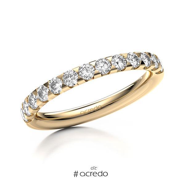 Memoire/Diamantring in Roségold 585 halbausgefasst mit zus. 0,65 ct. Brillant tw, si von acredo