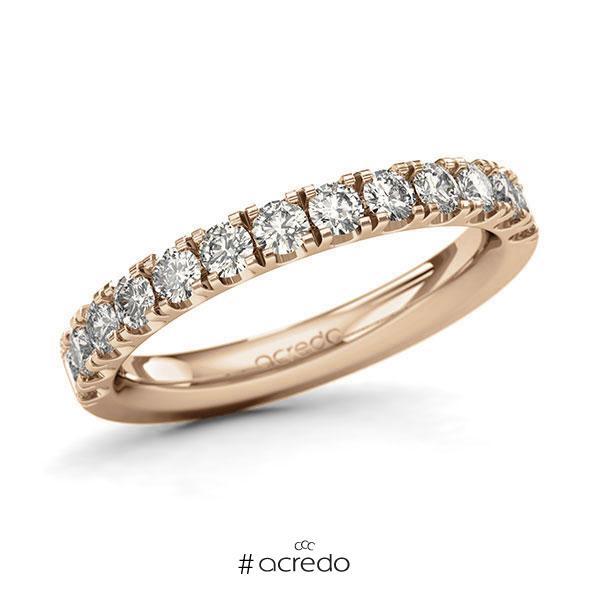 Memoire/Diamantring in Roségold 585 halbausgefasst mit zus. 0,78 ct. Brillant tw, si von acredo