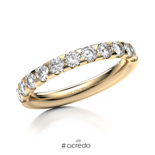 Memoire/Diamantring in Roségold 585 halbausgefasst mit zus. 0,88 ct. Brillant tw, si von acredo