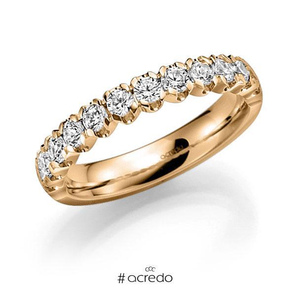 Memoire/Diamantring in Roségold 585 halbausgefasst mit zus. 0,91 ct. Brillant tw, vs von acredo
