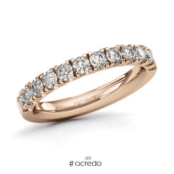 Memoire/Diamantring in Roségold 585 halbausgefasst mit zus. 0,96 ct. Brillant tw, si von acredo