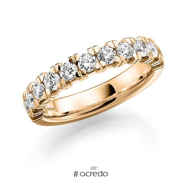 Memoire/Diamantring in Roségold 585 halbausgefasst mit zus. 0,99 ct. Brillant tw, vs von acredo