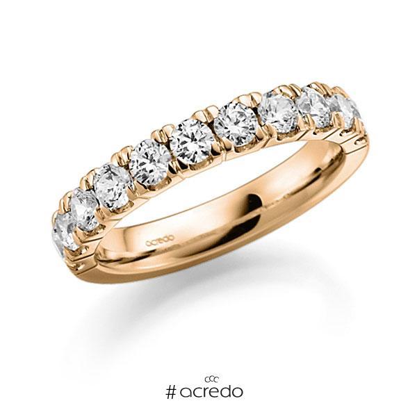 Memoire/Diamantring in Roségold 585 halbausgefasst mit zus. 1,08 ct. Brillant tw, vs von acredo