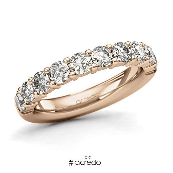 Memoire/Diamantring in Roségold 585 halbausgefasst mit zus. 1,5 ct. Brillant tw, si von acredo