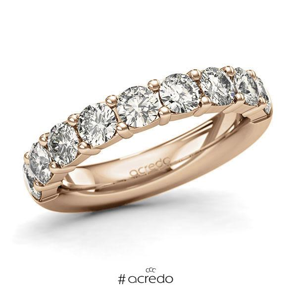 Memoire/Diamantring in Roségold 585 halbausgefasst mit zus. 1,8 ct. Brillant tw, si von acredo
