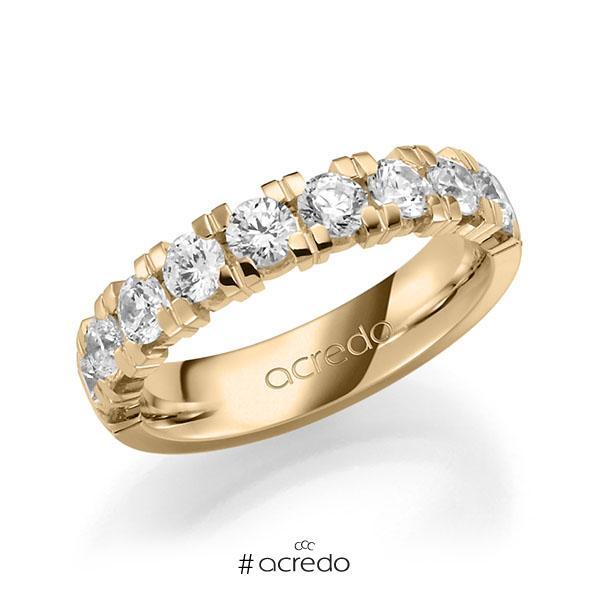 Memoire/Diamantring in Roségold 585 halbausgefasst mit zus. 1,8 ct. Brillant tw, vs von acredo