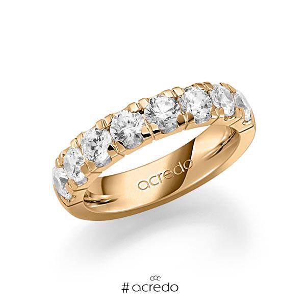 Memoire/Diamantring in Roségold 585 halbausgefasst mit zus. 2,25 ct. Brillant tw, vs von acredo