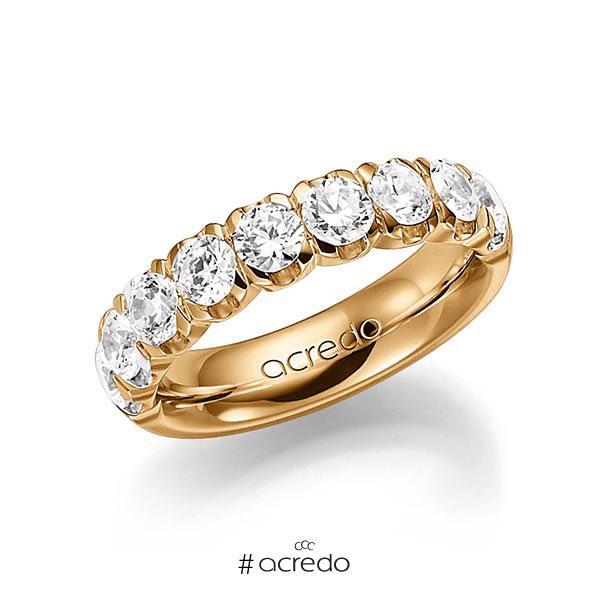 Memoire/Diamantring in Roségold 585 halbausgefasst mit zus. 2 ct. Brillant tw, vs von acredo