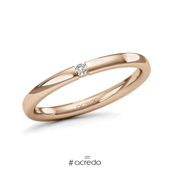 Memoire/Diamantring in Roségold 585 mit zus. 0,03 ct. Brillant tw, si von acredo