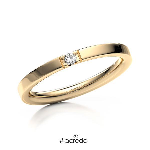 Memoire/Diamantring in Roségold 585 mit zus. 0,04 ct. Brillant tw, vs von acredo