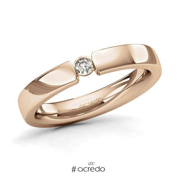 Memoire/Diamantring in Roségold 585 mit zus. 0,07 ct. Brillant tw, si von acredo