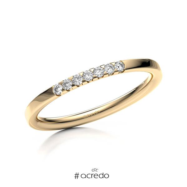 Memoire/Diamantring in Roségold 585 mit zus. 0,105 ct. Brillant tw, si von acredo