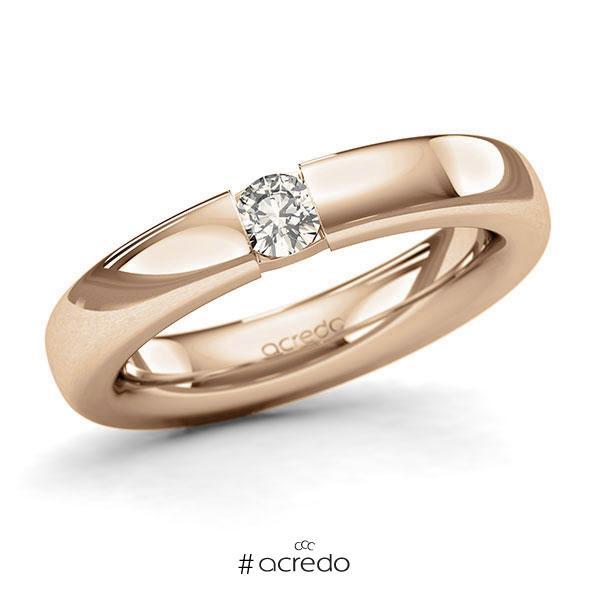 Memoire/Diamantring in Roségold 585 mit zus. 0,2 ct. Brillant tw, si von acredo
