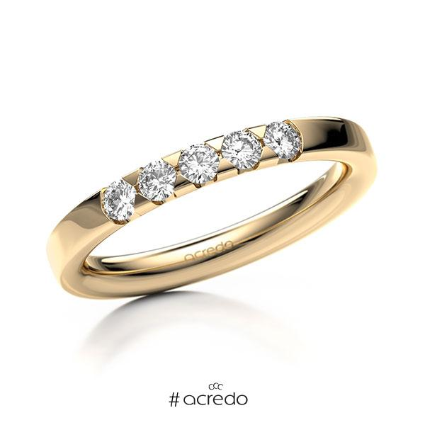 Memoire/Diamantring in Roségold 585 mit zus. 0,3 ct. Brillant tw, si von acredo