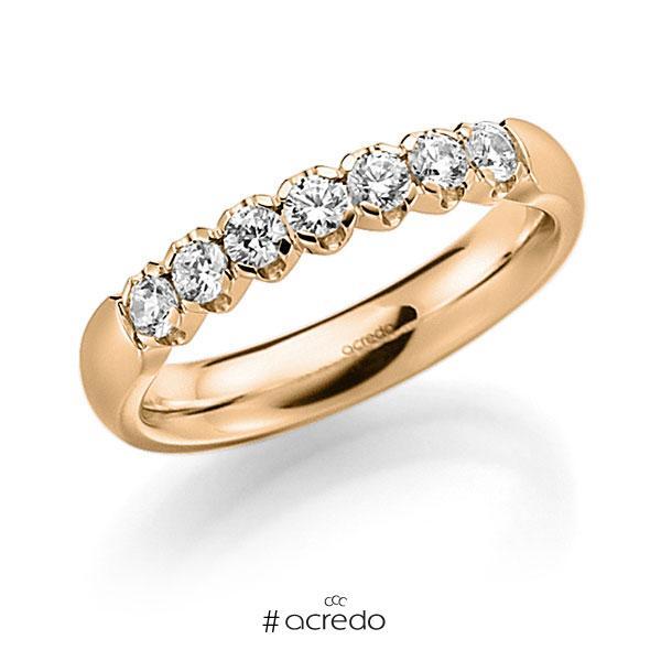 Memoire/Diamantring in Roségold 585 mit zus. 0,42 ct. Brillant tw, vs von acredo