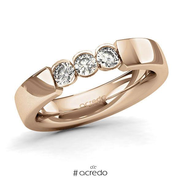 Memoire/Diamantring in Roségold 585 mit zus. 0,45 ct. Brillant tw, si von acredo