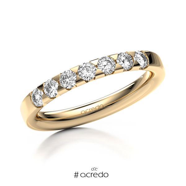 Memoire/Diamantring in Roségold 585 mit zus. 0,49 ct. Brillant tw, si von acredo
