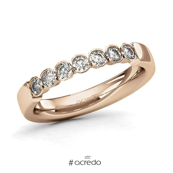 Memoire/Diamantring in Roségold 585 mit zus. 0,49 ct. Brillant tw, si von acredo