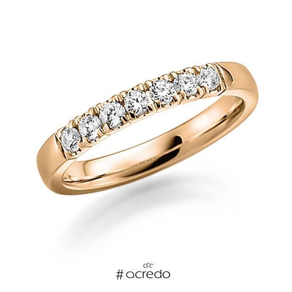 Memoire/Diamantring in Roségold 585 mit zus. 0,49 ct. Brillant tw, vs von acredo