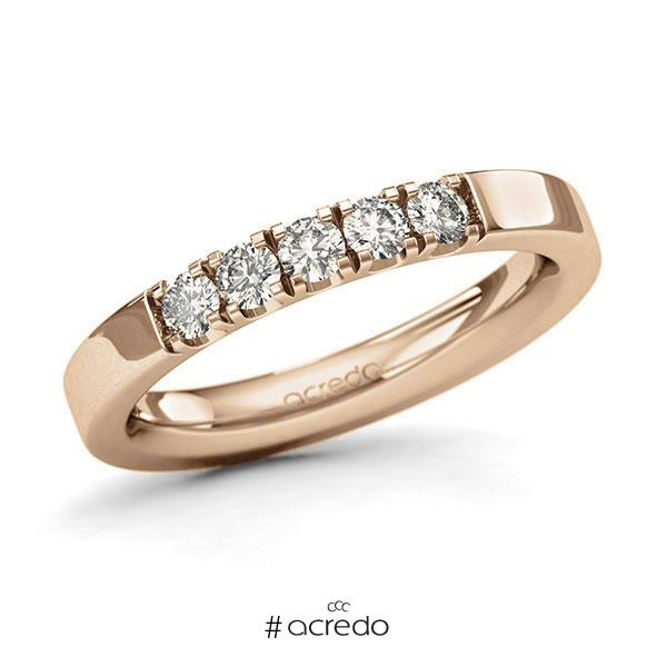 Memoire/Diamantring in Roségold 585 mit zus. 0,4 ct. Brillant tw, si von acredo