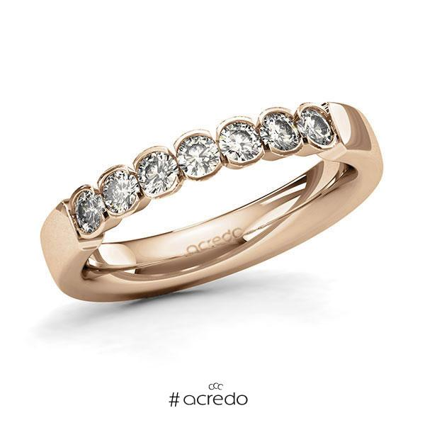 Memoire/Diamantring in Roségold 585 mit zus. 0,56 ct. Brillant tw, si von acredo