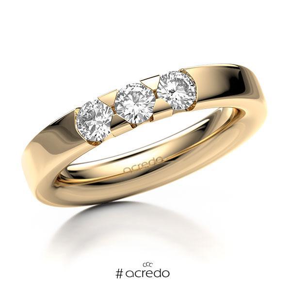Memoire/Diamantring in Roségold 585 mit zus. 0,6 ct. Brillant tw, si von acredo
