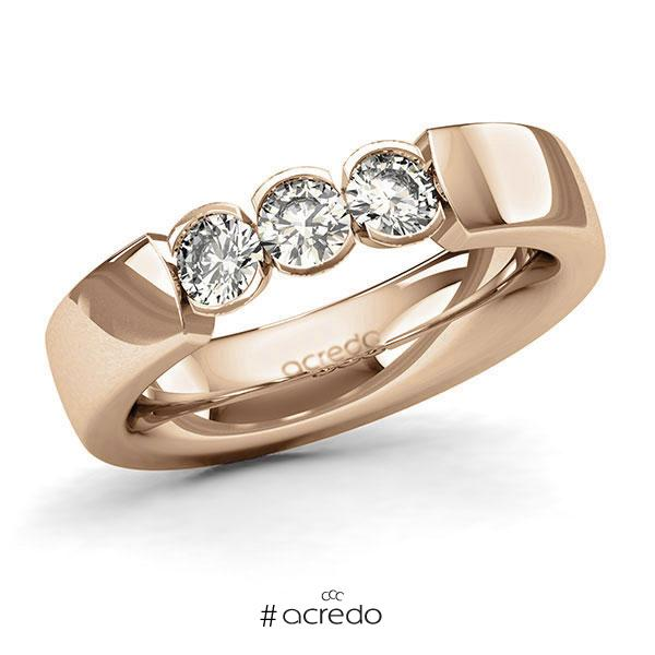 Memoire/Diamantring in Roségold 585 mit zus. 0,6 ct. Brillant tw, si von acredo